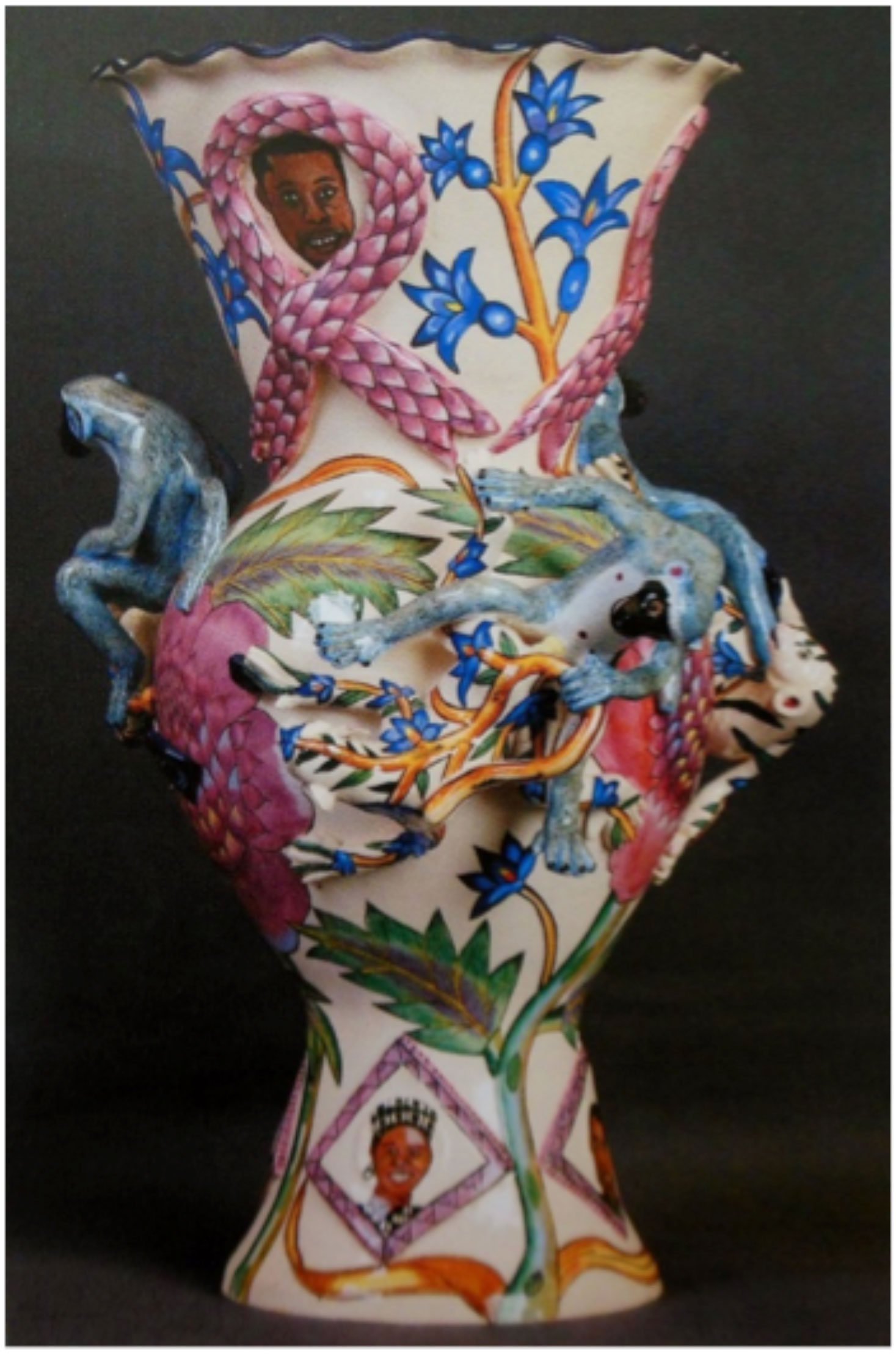 Interpreting ceramics issue 16 upcycling stereotypes telling tin glaze monkey vase made as a memorial to all the ardmore artists who have reviewsmspy